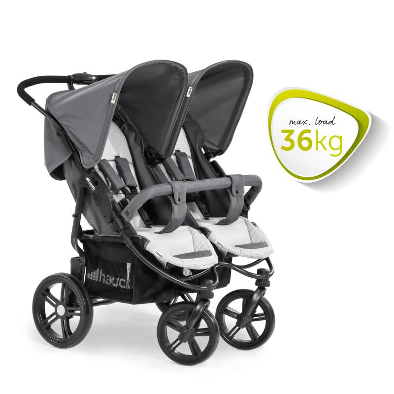 Hauck Roadster Duo SLX Grey/Silver Syskonvagn