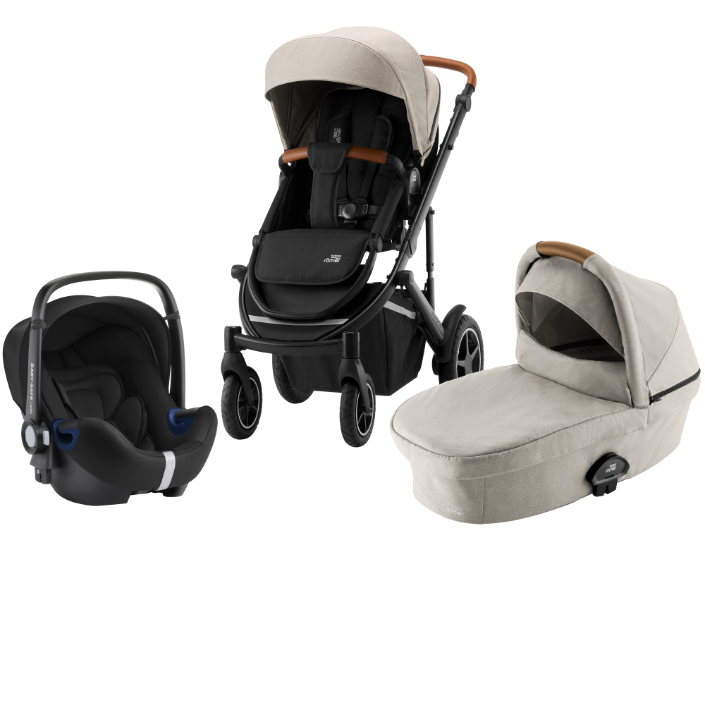 Britax Smile III Duovagn + Baby Safe² i-Size Pure Beige