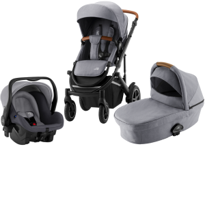 Britax Smile III Duovagn + PRIMO Babyskydd Frost Grey Brun
