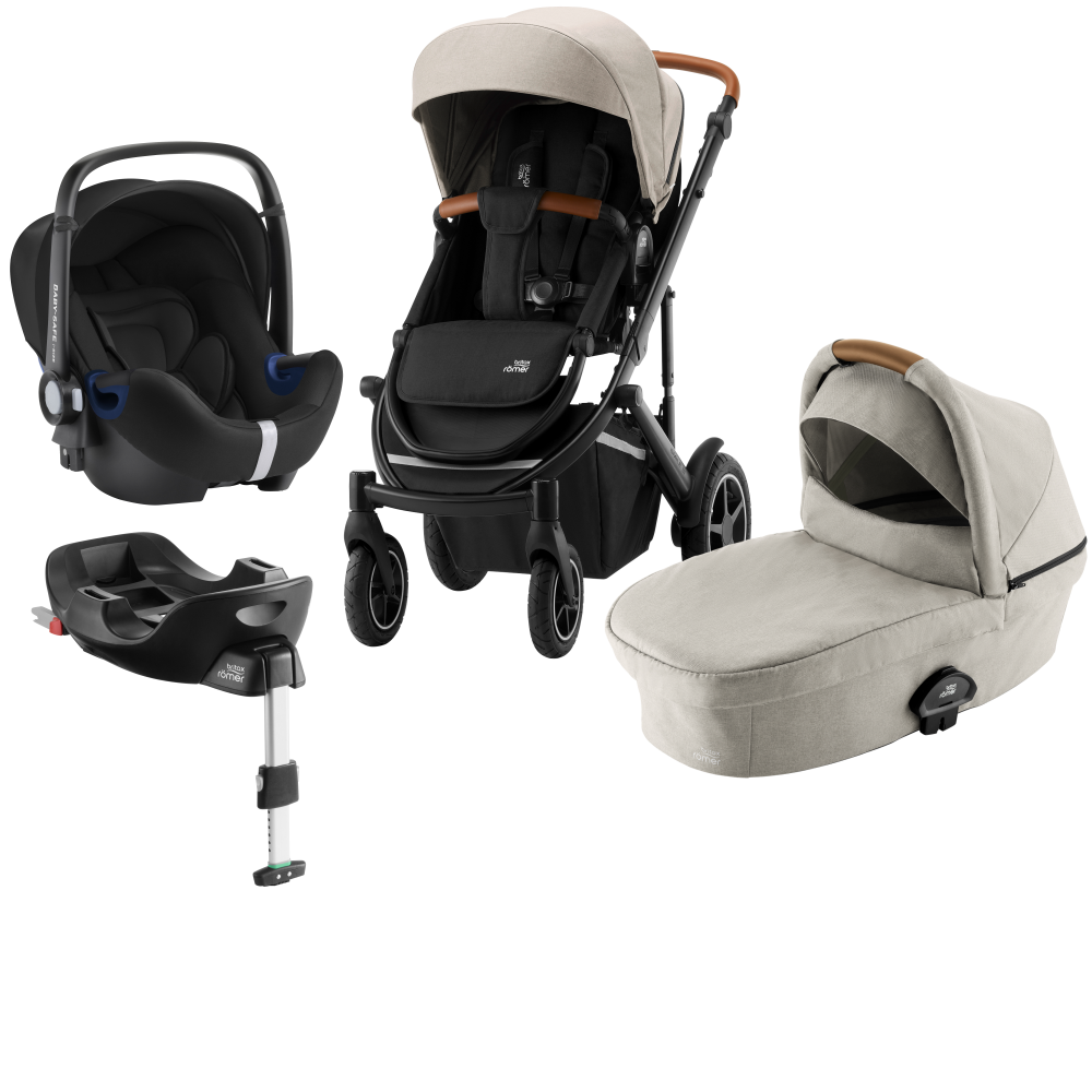 Britax Smile III Duovagn + Baby Safe² i-Size + Flex bas Pure Beige