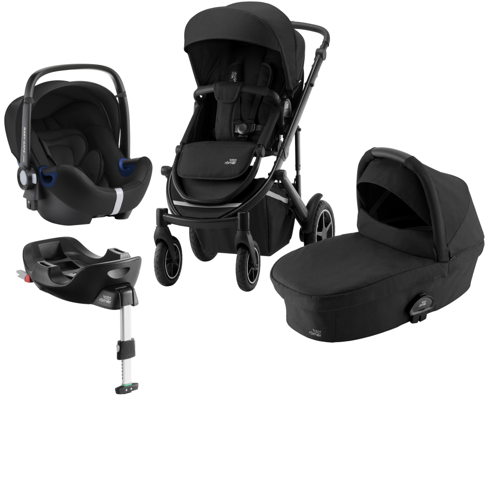 Britax Smile III Duovagn + Baby Safe² i-Size + Flex bas Space black