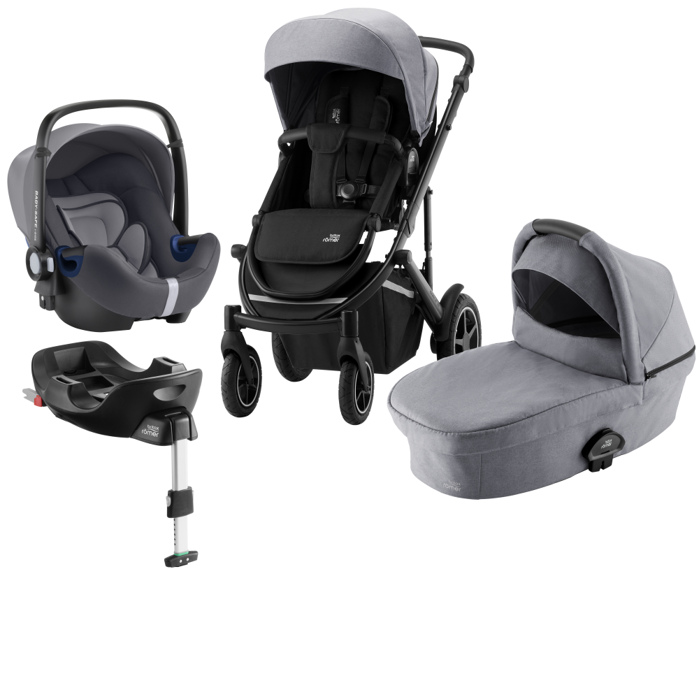 Britax Smile III Duovagn + Baby Safe² i-Size + Flex bas Frost Grey Black