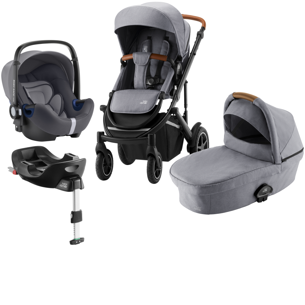 Britax Smile III Duovagn + Baby Safe² i-Size + Flex bas Frost Grey Brun