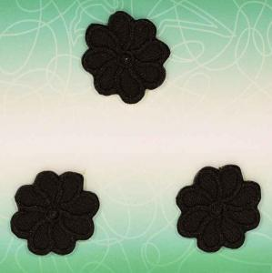 Applikation - Blommor svart