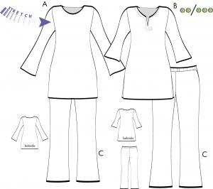 Tunika och leggings för s