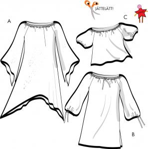 Tunika, klänning, blus Stl 48-60