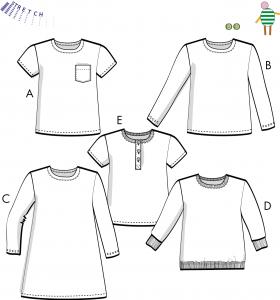 Charlie - T-shirts, tröja, klänning