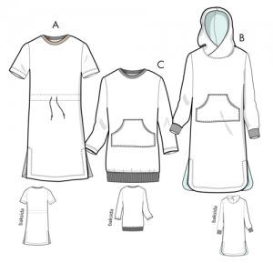Tröja/hoodklänning Billie XS-2XL