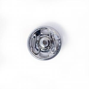 Tryckknappar 9 mm - Silver