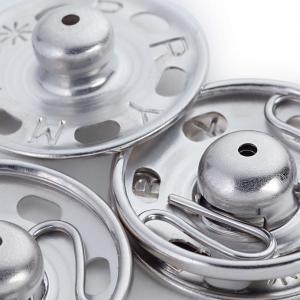 Tryckknappar 21 mm - Silver
