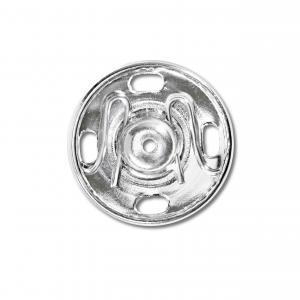 Tryckknappar 17 mm - Silver