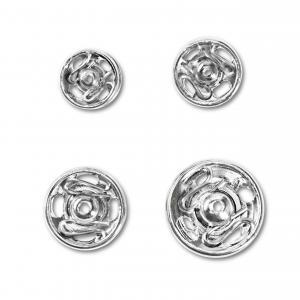 Tryckknappar 6-11 mm - Silver