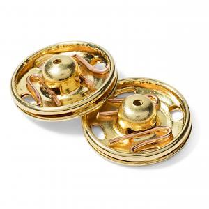 Tryckknappar 17 mm - Guld