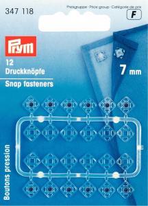 Tryckknappar Plast 7 mm - Vit