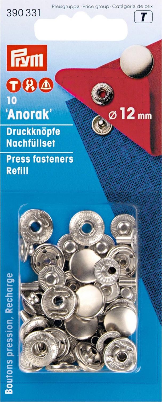 Tryckknappar refill 12 mm