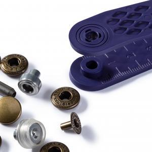 Tryckknappar 12 mm - Antik mässing