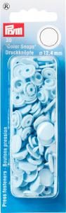 Plasttryckknappar 30 st Ljusblå