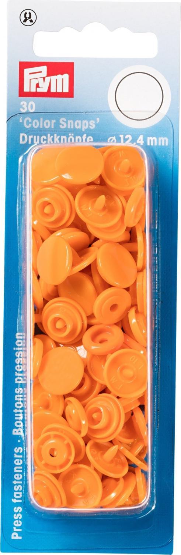 Plasttryckknappar 30 st Orange
