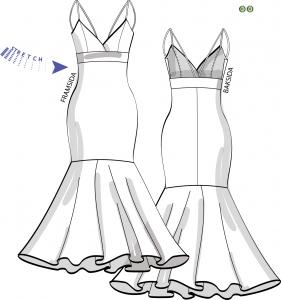 Klänning för stretchtrikå