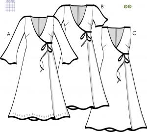 Omlottklänning