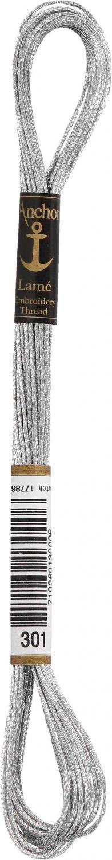 Moulinegarn Lame 8 meter Silver