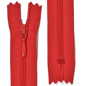 Klänningslås 4 mm Röd