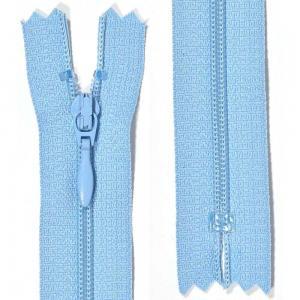 Klänningslås 4 mm Ljusblå