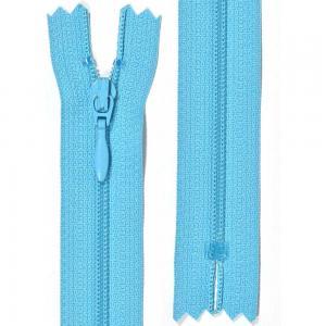 Klänningslås 4 mm Turkosblå