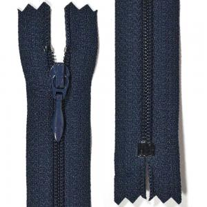 Klänningslås 4 mm Marinblå