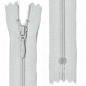 Klänningslås 4 mm Ljusgrå