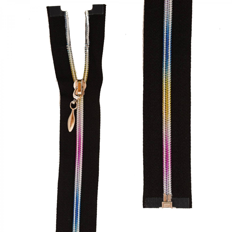 Jacklås 6mm spiral - Rainbow