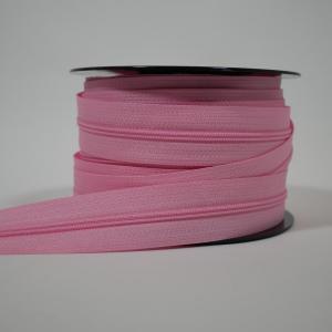 Blixtlås metervara 4 mm - Rosa