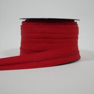 Blixtlås metervara 4 mm - Röd