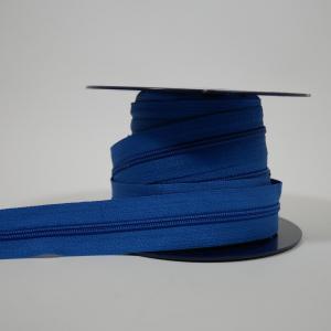 Blixtlås metervara 4 mm - Blå