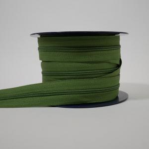 Blixtlås metervara 4 mm - Grön