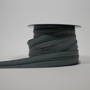 Blixtlås metervara 4 mm - Grå