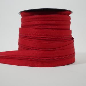 Blixtlås metervara 6 mm - Röd
