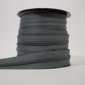 Blixtlås metervara 6 mm - Grå