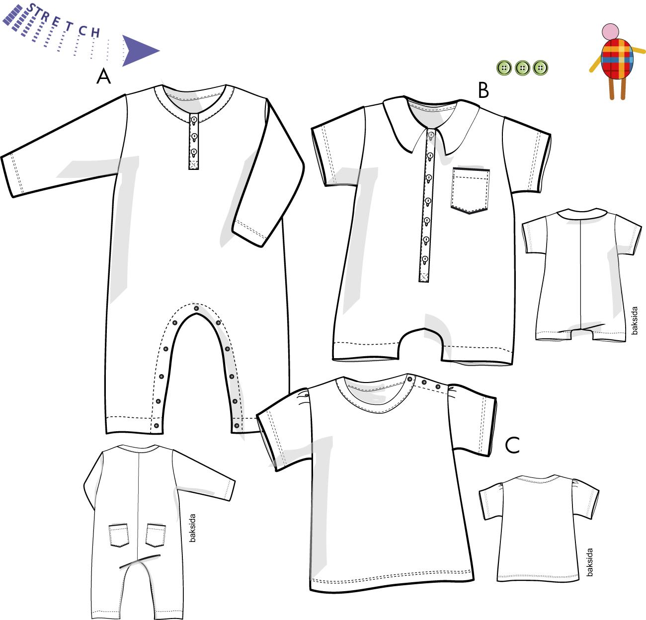 Babyoverall och tröja för trikå