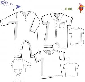 Baby:Overall och tröja för trikå
