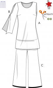 Tunika och byxa - Stl 48-60