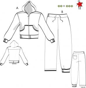 Hoodjacka och mjukisbyxa Stl 48-60