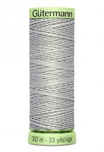 Knapptråd 30m Ljusgrå