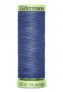 Knapptråd 30m Jeansblå