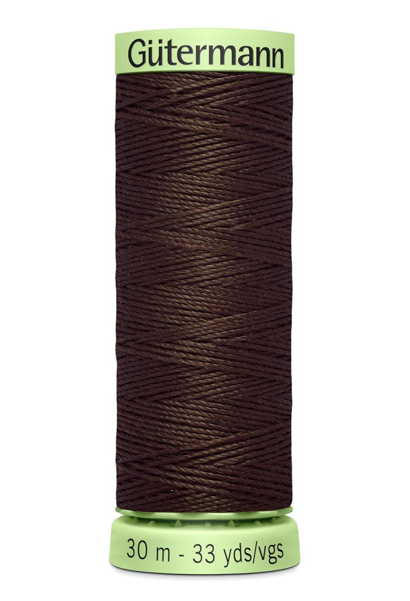 Knapptråd 30m Mörkbrun