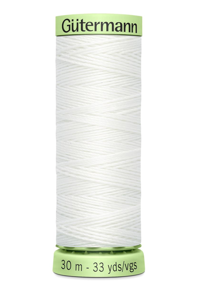 Knapptråd 30m Vit