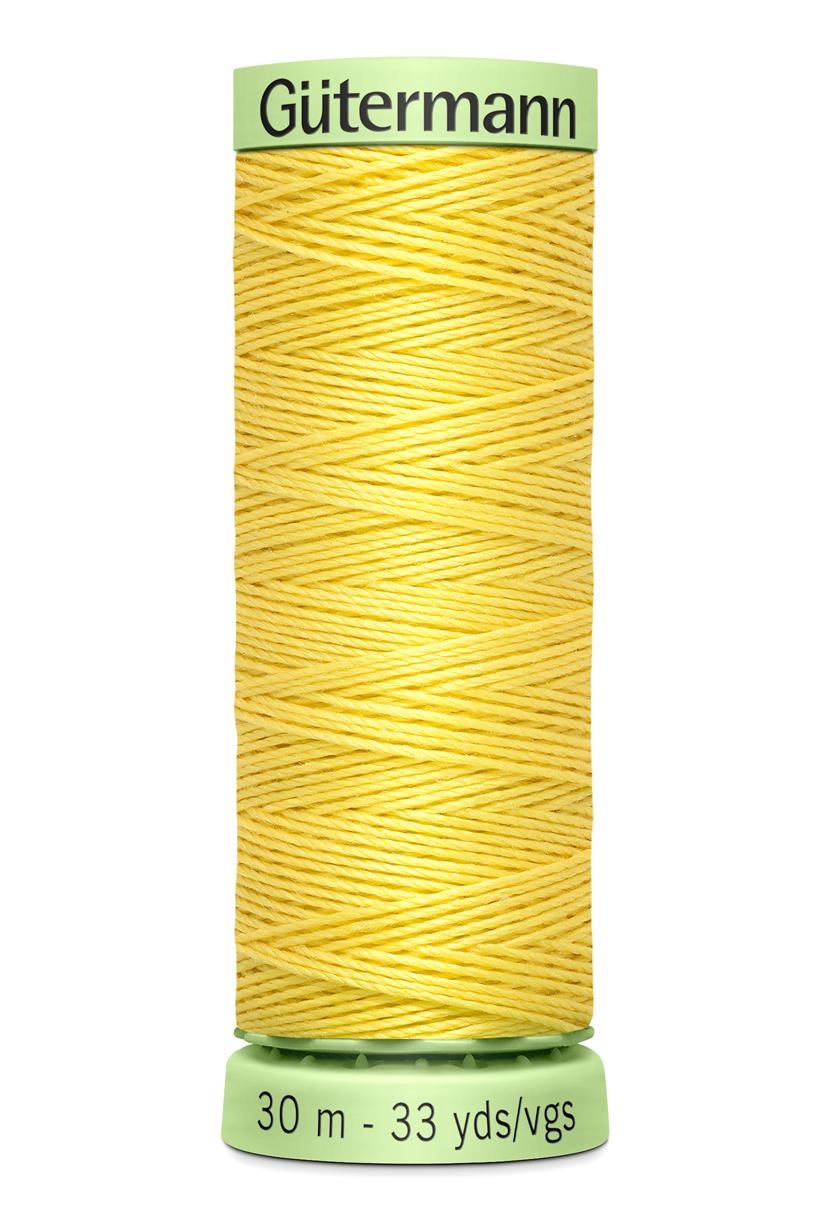 Knapptråd 30m Gul
