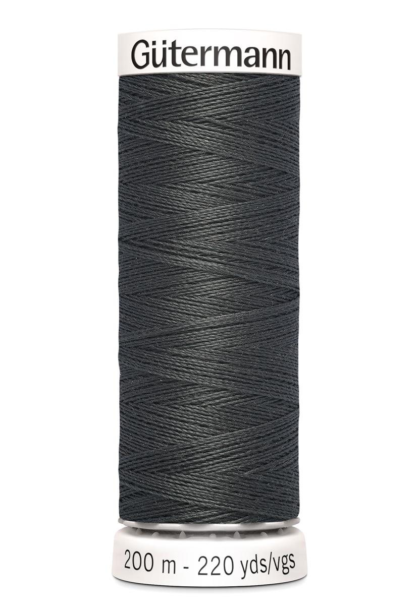 Polyestertråd 200 m Mörkgrå