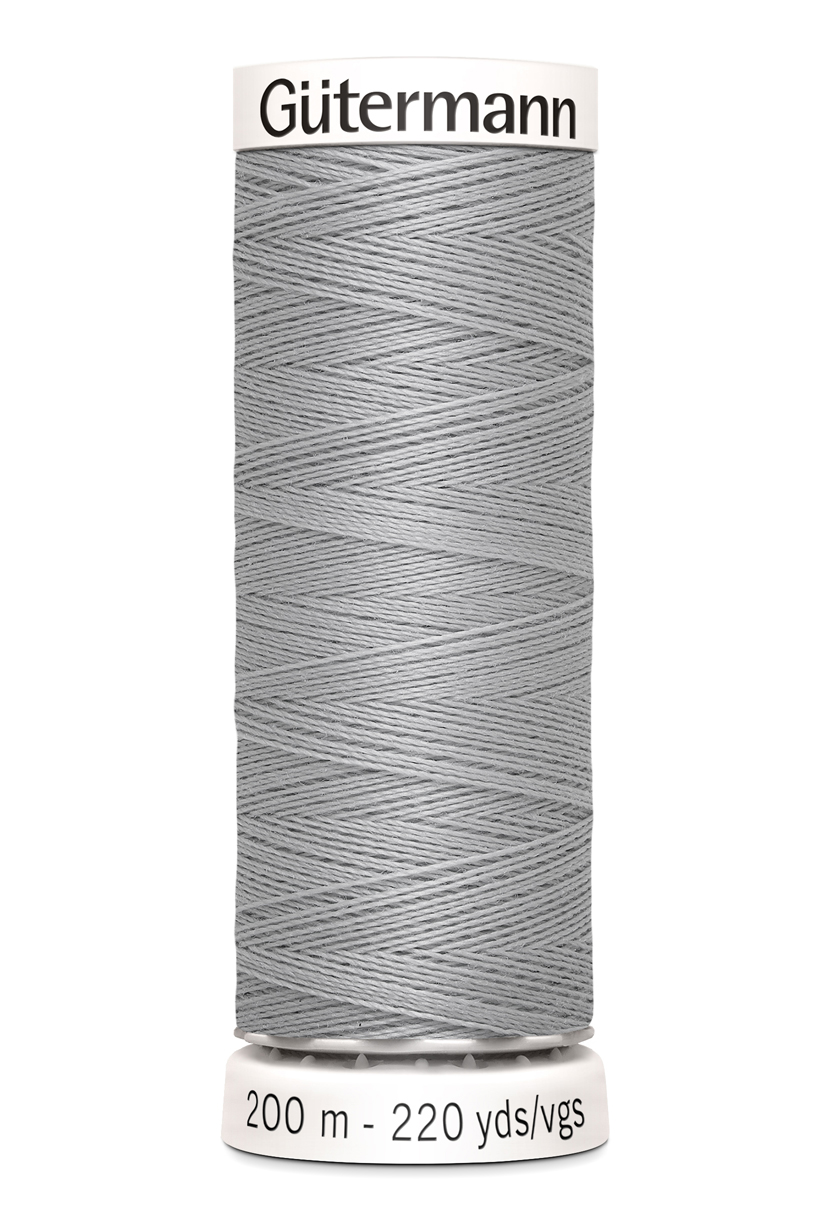 Polyestertråd 200 m Ljusgrå