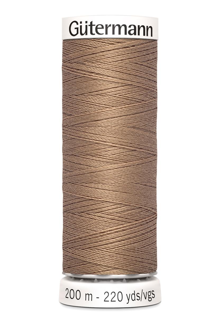 Polyestertråd 200 m Ljusbrun